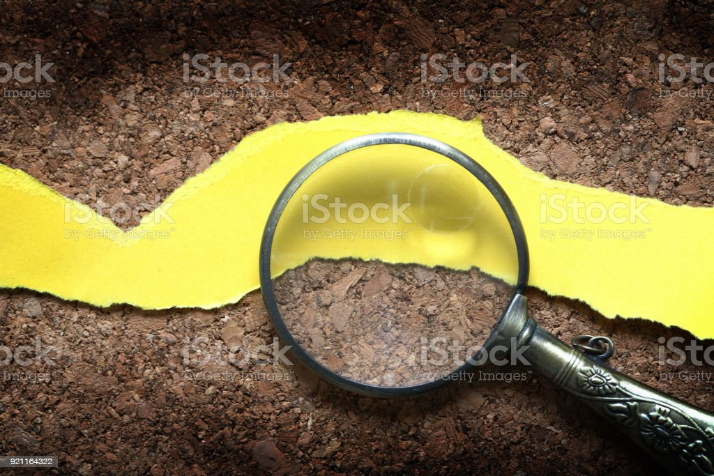 Magnifying Glass And Paper stock photo