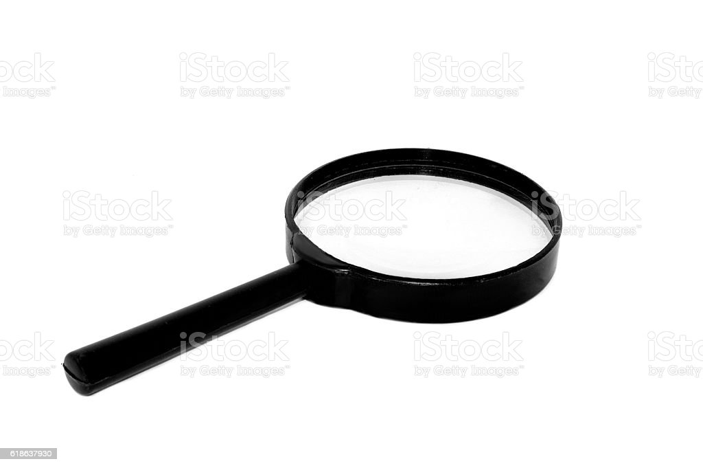 Magnifying Glass Isolated On A White Background Stock