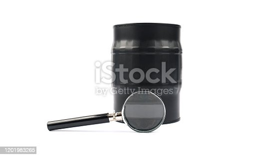 Magnifying glass dollar medicine isolated