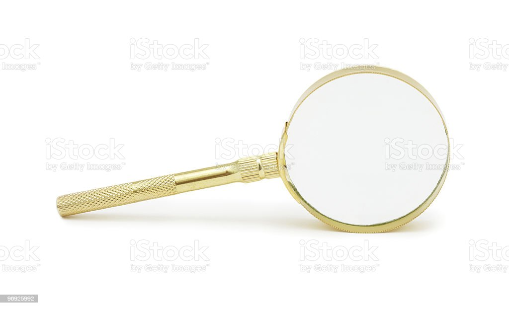 Magnifying Glass, isolated royalty-free stock photo