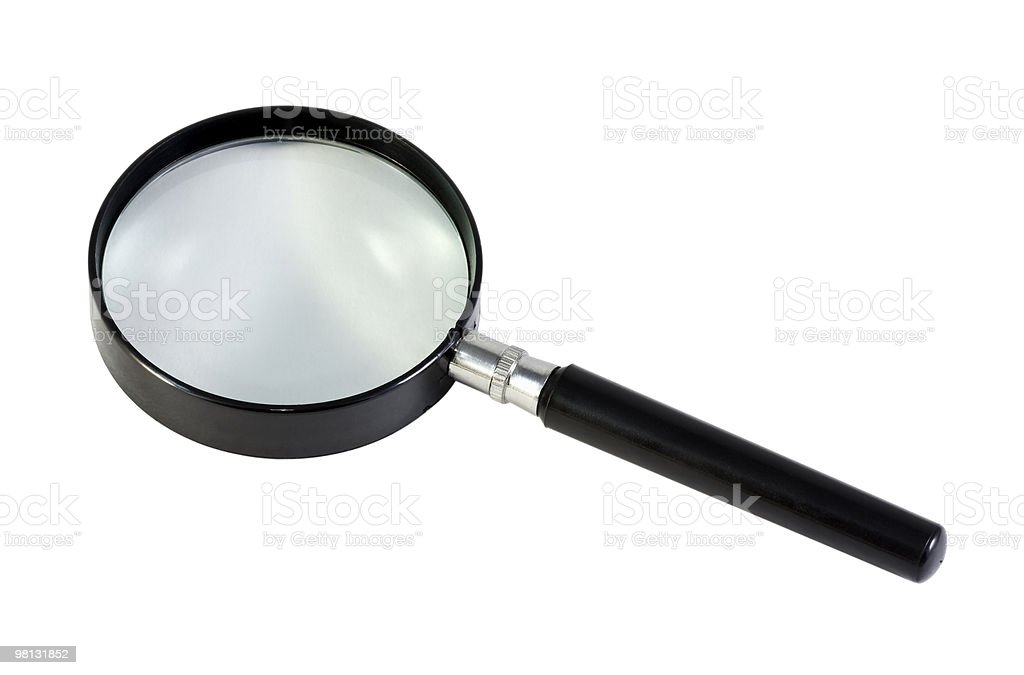 magnifying glass on a white background royalty-free stock photo