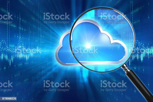 Magnifying glass on cloud icon technology background 3d illustration picture id978988526?b=1&k=6&m=978988526&s=612x612&h=t4ntjixbnqrskkxvt9f19cv5xk u8cf axlnyqcncmo=