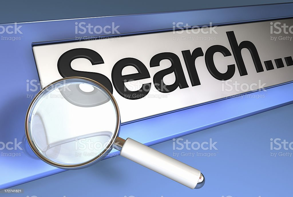 Magnifying Glass On Website Search Bar Stock Photo & More