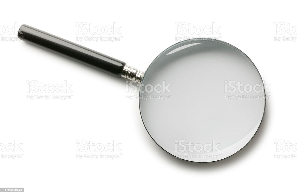 Magnifying Glass On White Background royalty-free stock photo