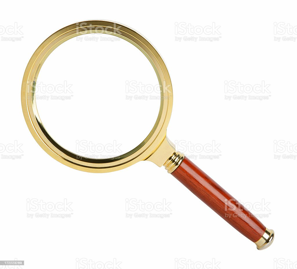 Magnifying glass on white royalty-free stock photo