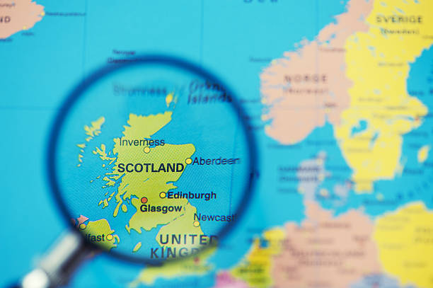 Royalty free scotland map pictures images and stock photos istock magnifying glass over scotland on european map stock photo gumiabroncs Choice Image