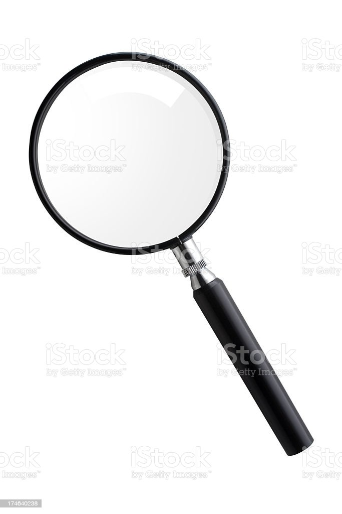 Magnifying glass stock photo