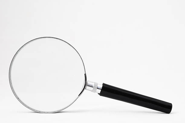 Magnifying glass Magnifying Glass Loupe on a White Background low scale magnification stock pictures, royalty-free photos & images