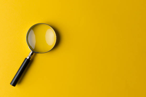 Magnifying glass - foto stock