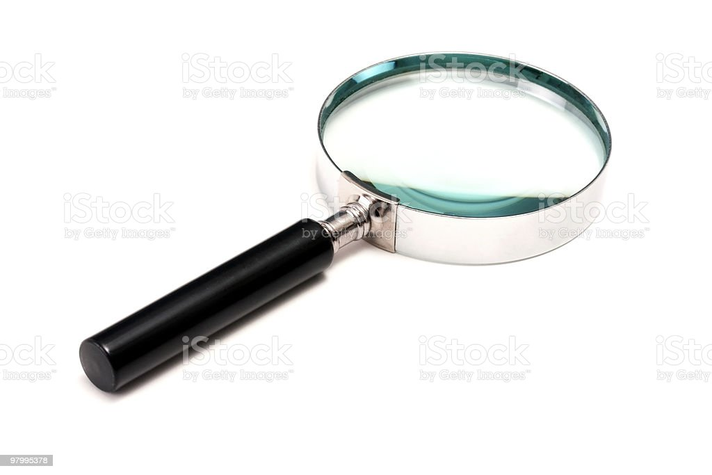 Magnifying glass royalty free stockfoto