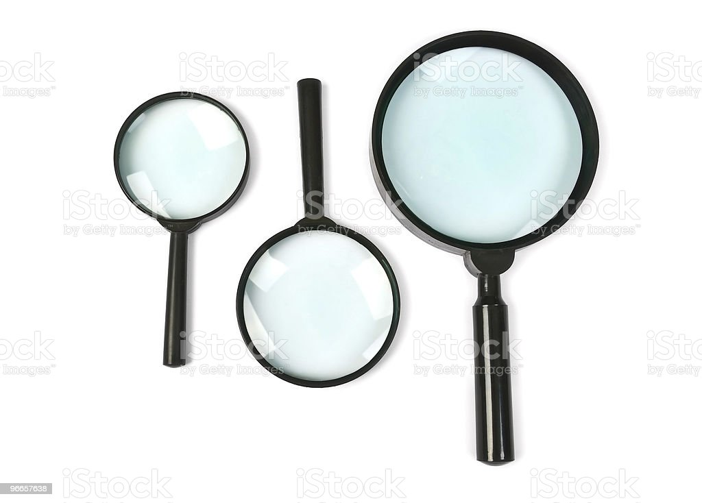 magnifying glass set royalty-free stock photo