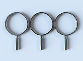 Magnifying Glass with clipping path isolated on white