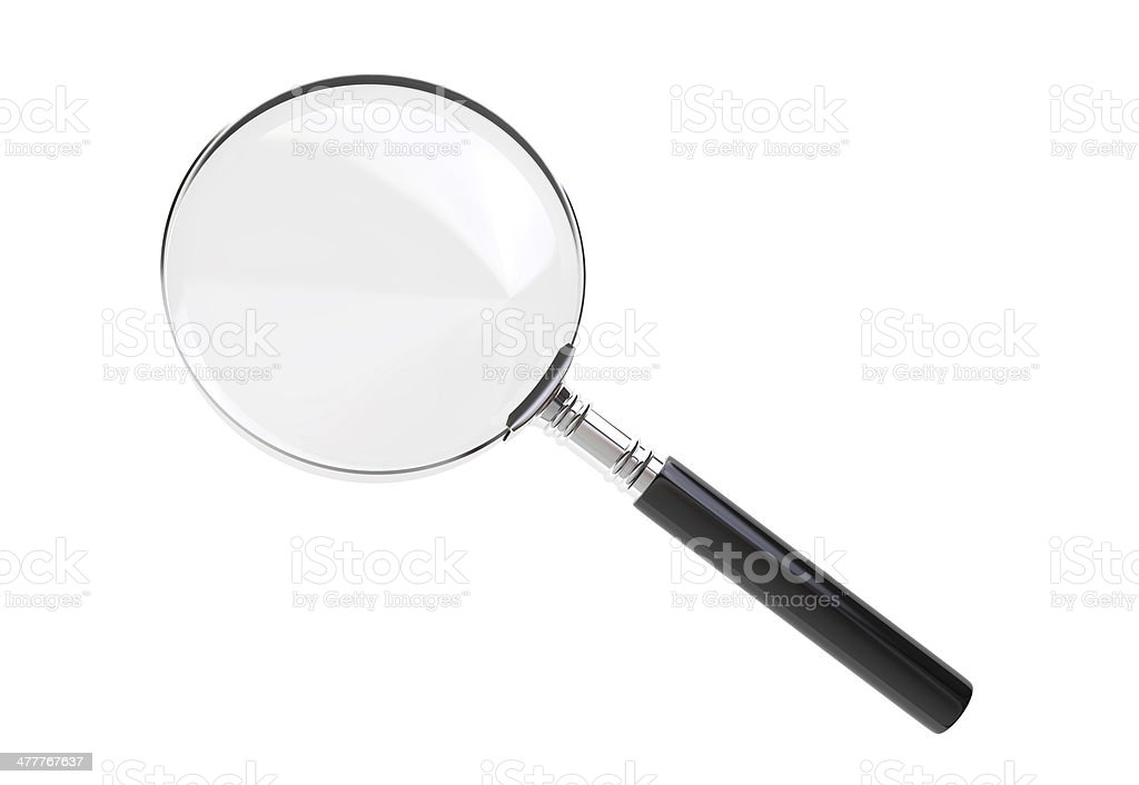 Magnifying glass with clipping path royalty-free stock photo