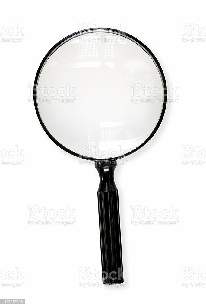 Magnifying Glass with Path royalty-free stock photo