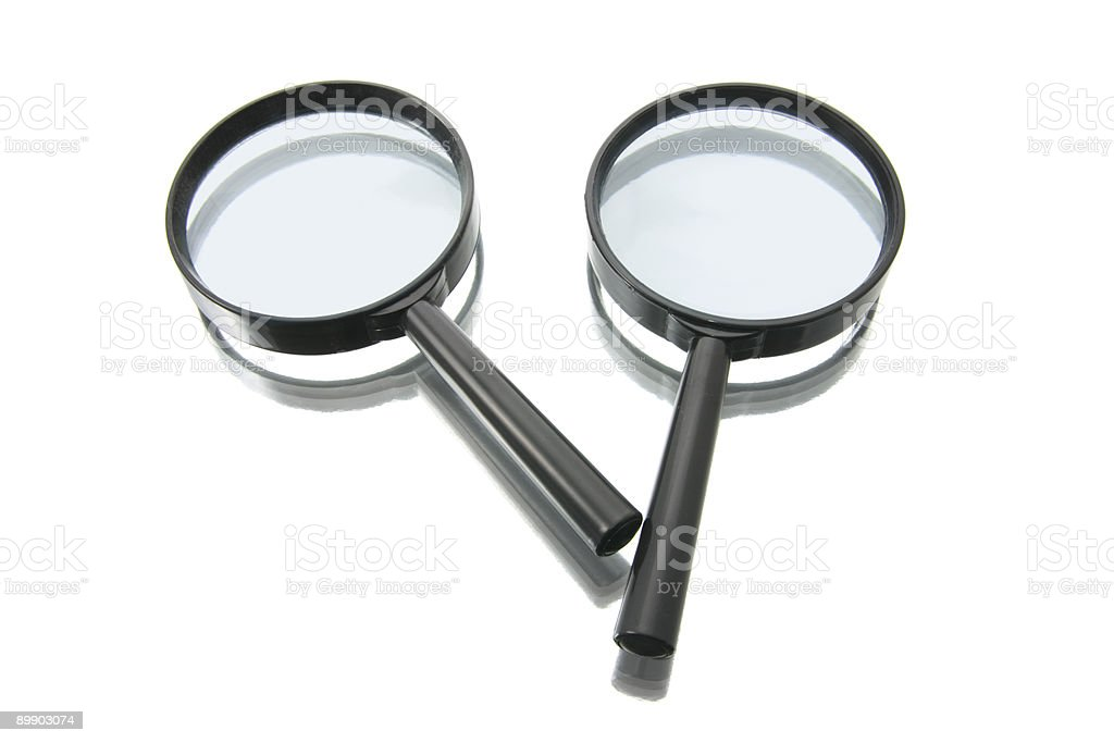 Magnifying Glasses royalty-free stock photo