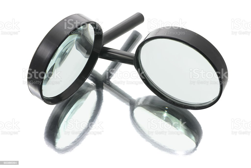 Magnifying Glasses stock photo