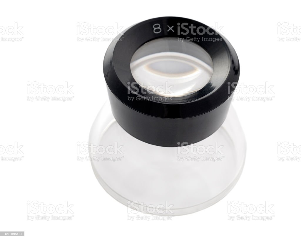 Loupe magnifier stock photo