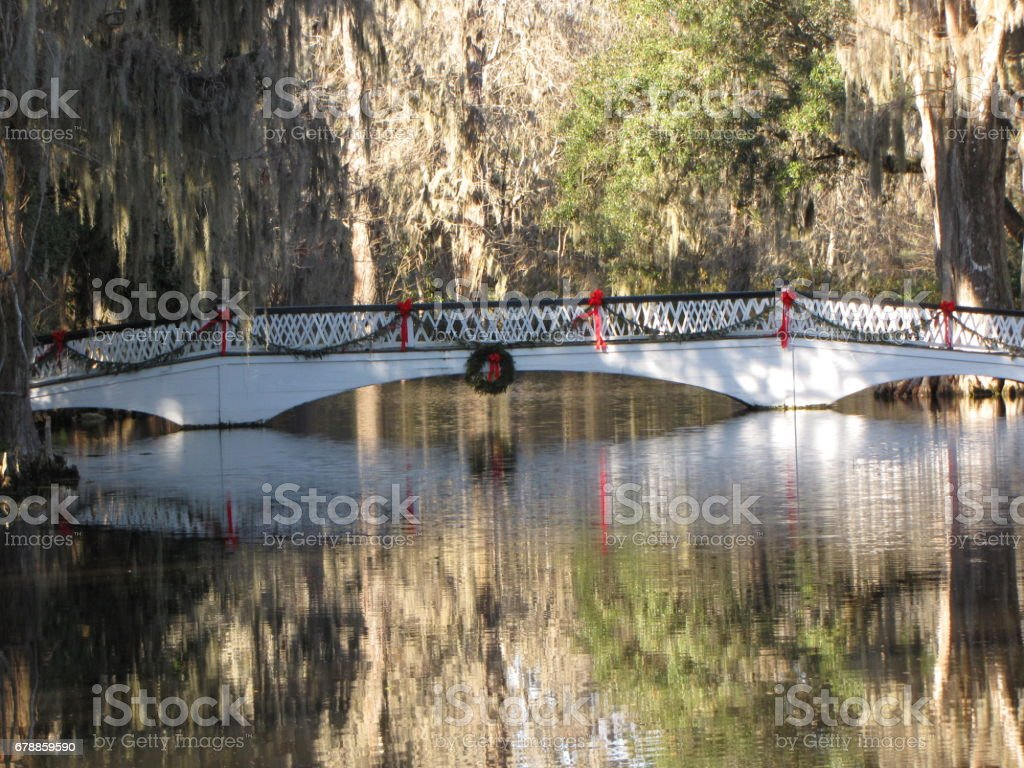 Magnolia Plantation Bridge photo libre de droits