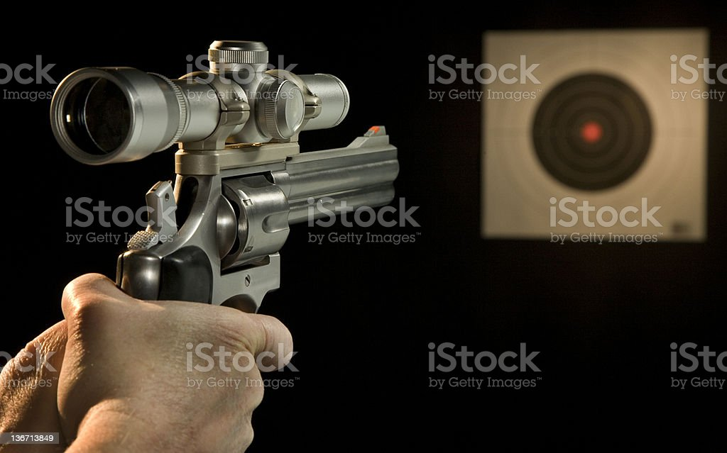 .357 magnum revolver with scope royalty-free stock photo