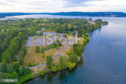 Magnuson Park Overhead Aerial View Seattle Washington USA