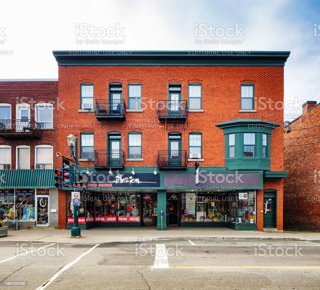 Magog Quebec Canada Rue Prinle Brick Apartment Building With ... on winnipeg canada stores, alberta canada stores, new york stores, brazil stores, south carolina stores, quebec art, windsor canada stores, france stores, ottawa canada stores,