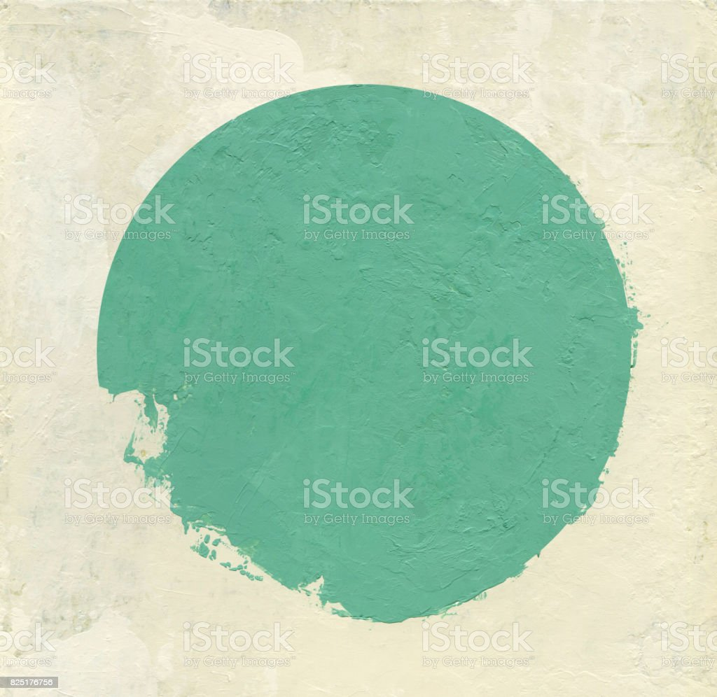 Maguncia green broken circle stock photo