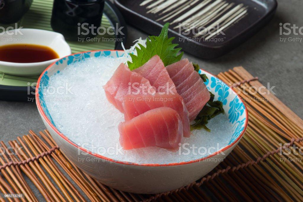 magura Akami , Tuna Sashimi sushi royalty-free stock photo