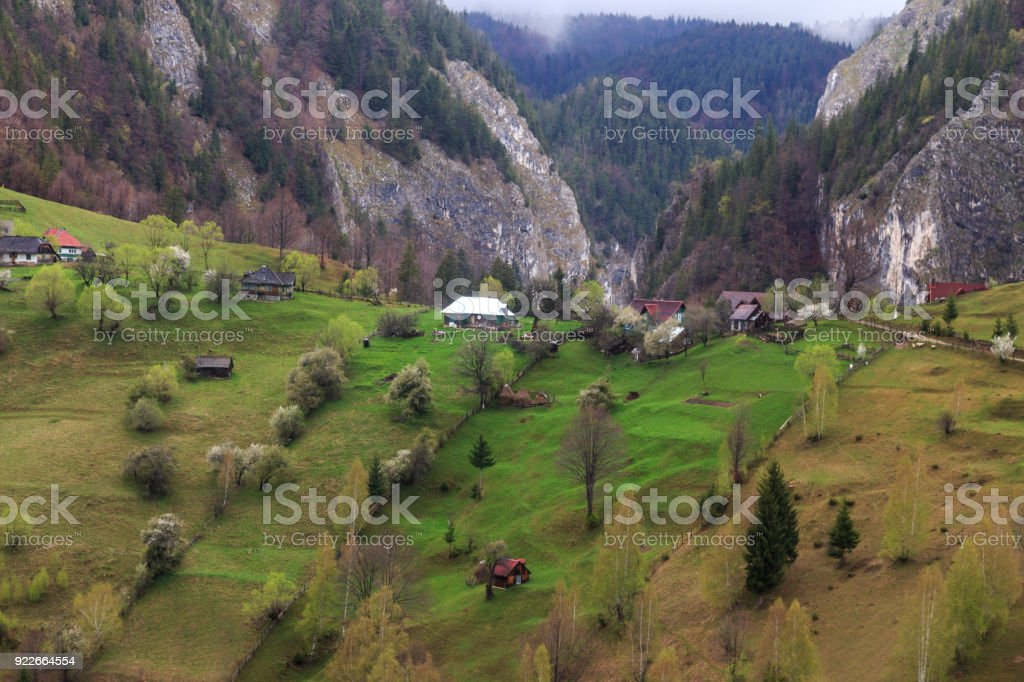 Magura village,a picturesque place from Brasov county, Transylvania stock photo