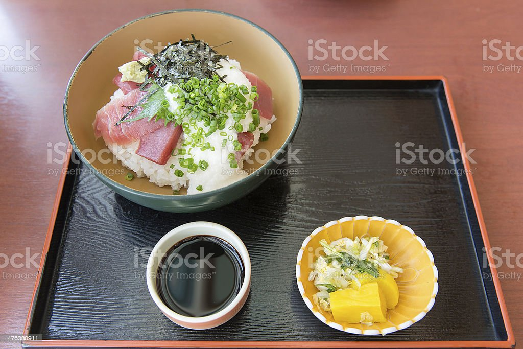 Maguro Don in Japan royalty-free stock photo