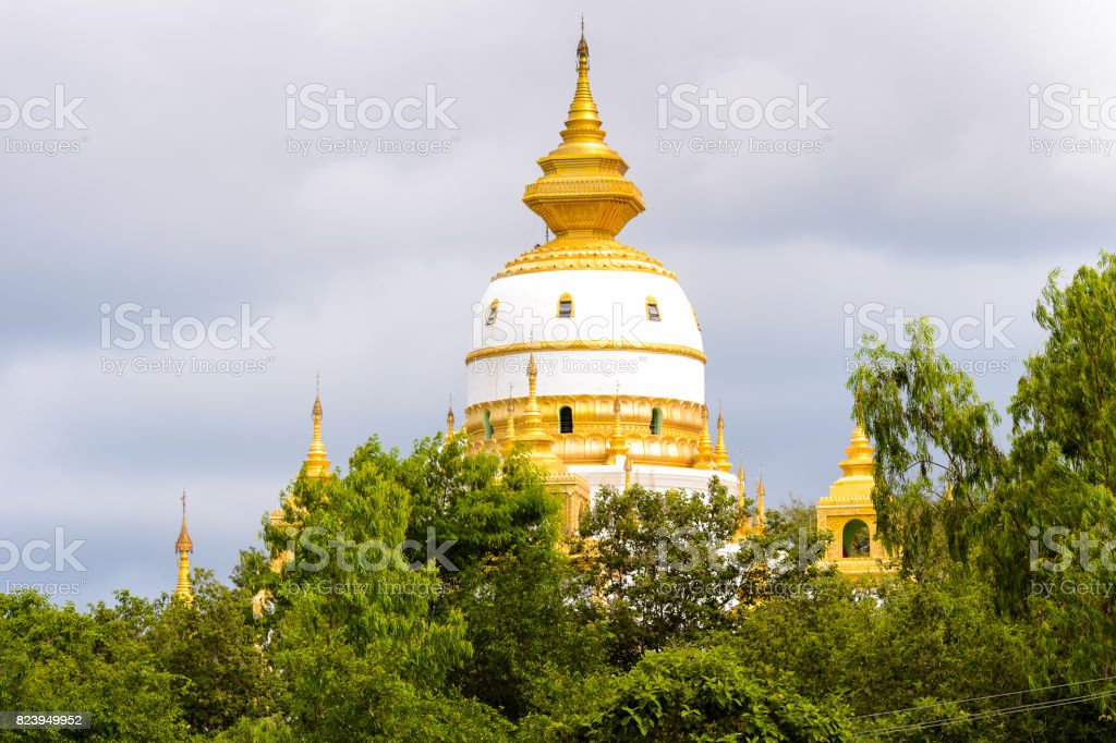 Maha Bodhi Ta Htaung ('a thousand great Bo trees'), a famous Buddhist region and monastery, Monywa Township, Sagaing Area, Myanmar (Burma) stock photo