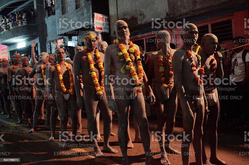 Maha kumbha mela stock photo