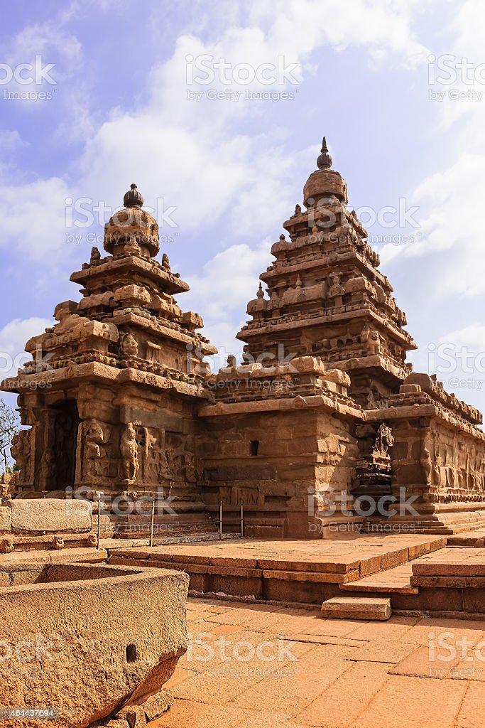 Mahabalipuram, India - The Shore temple onshore, Bay of Bengal stock photo