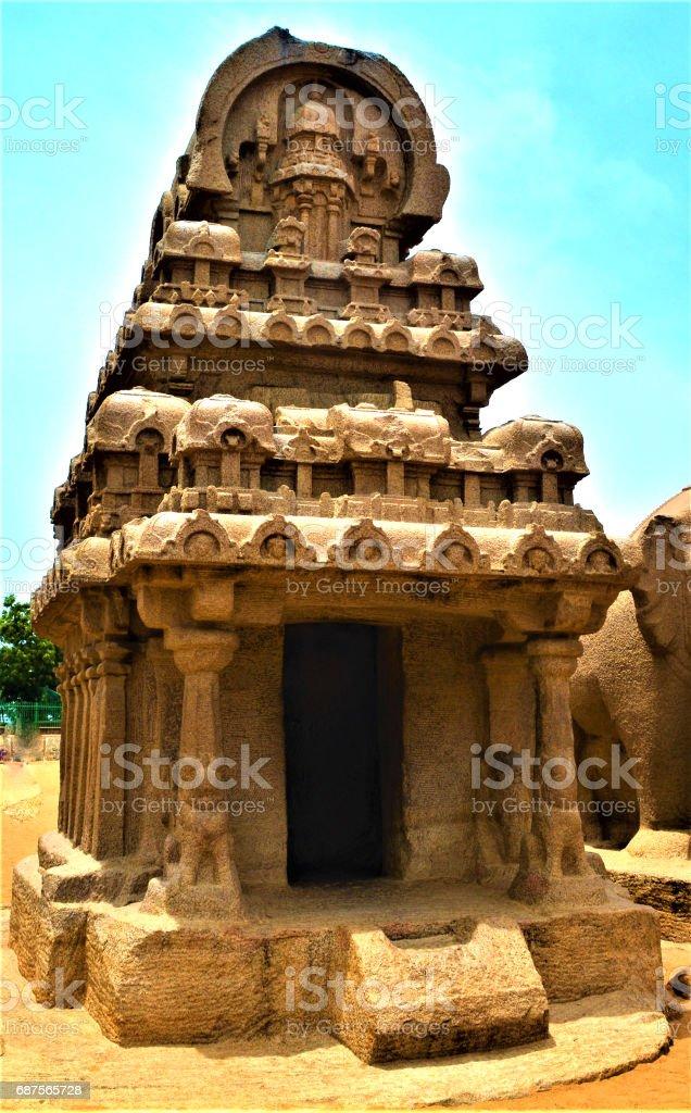 Mahabalipuram temple stock photo