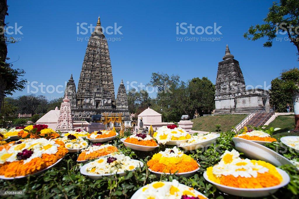 Mahabodhi temple, bodh gaya, India stock photo