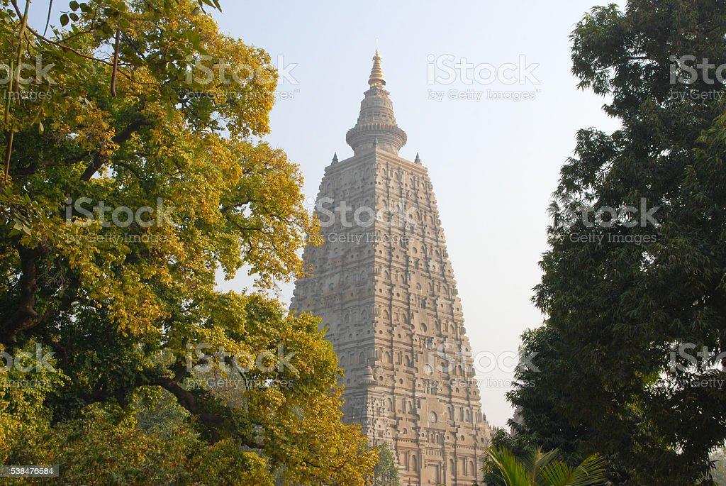 Mahabodhi temple, bodh gaya, India. The site where Gautam Buddha stock photo