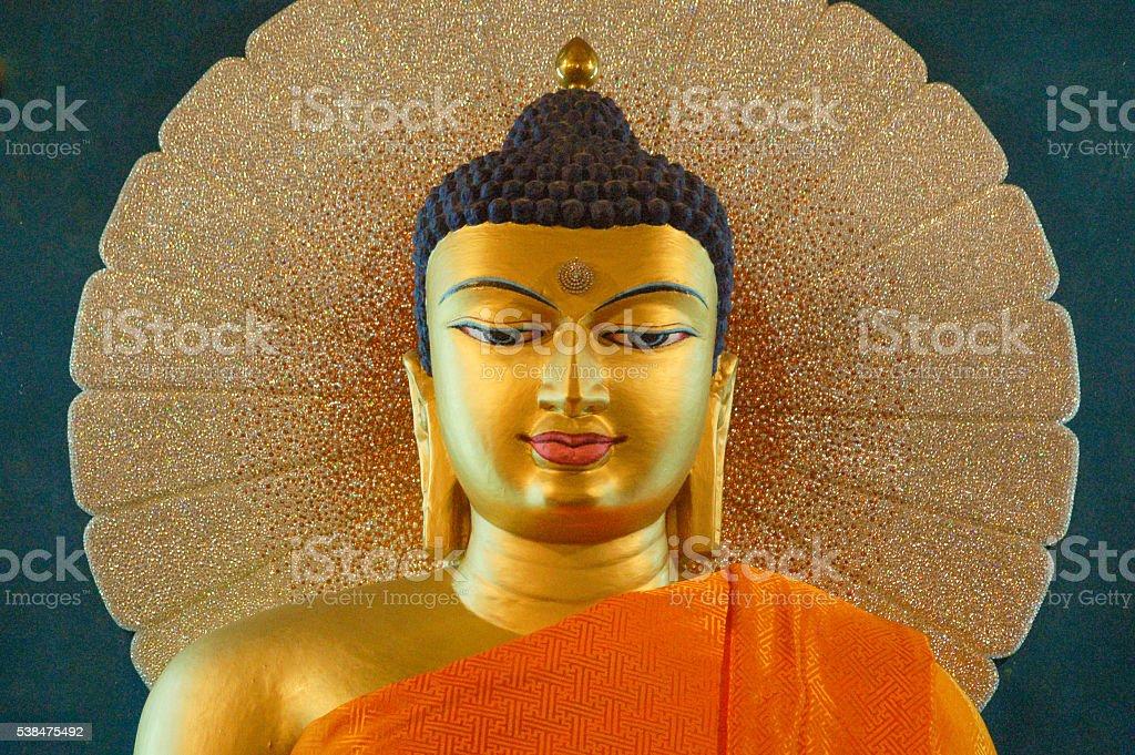 Mahabodhi Temple in Bodhgaya, Bihar, India stock photo