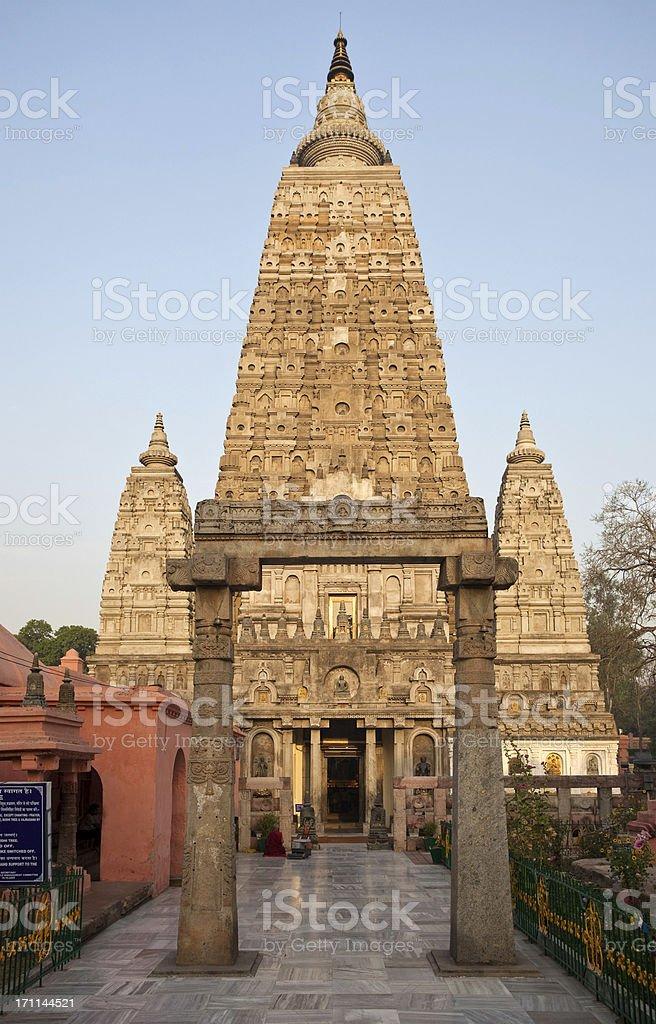 Mahabodhi Temple stock photo