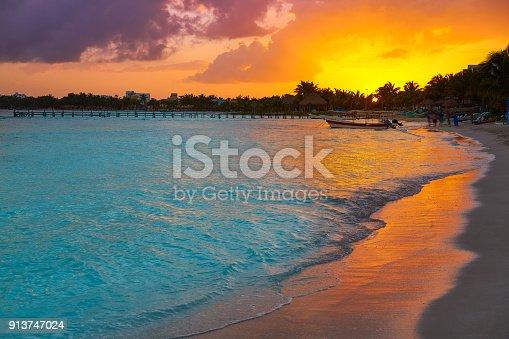 istock Mahahual Caribbean beach in Costa Maya 913747024