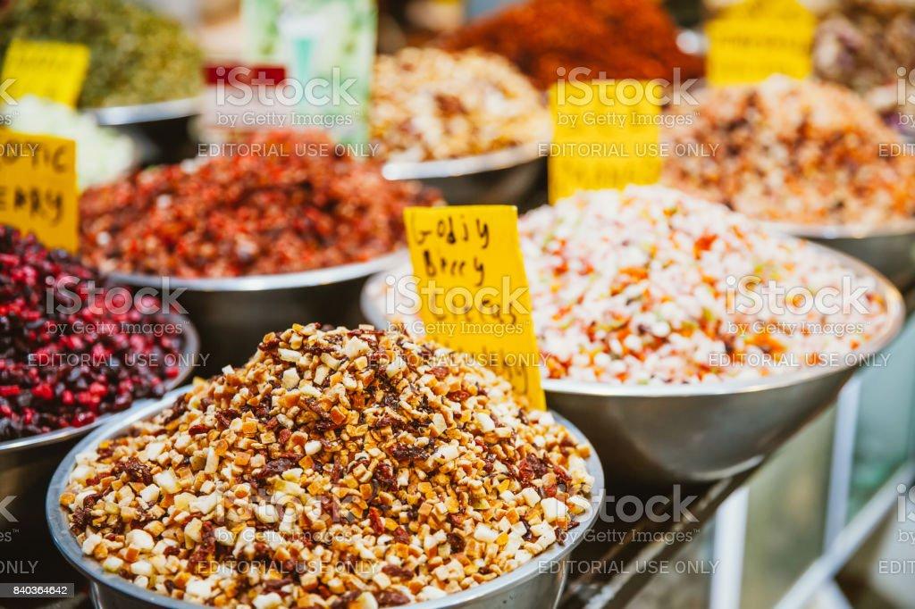 Mahane Yehuda Market stock photo