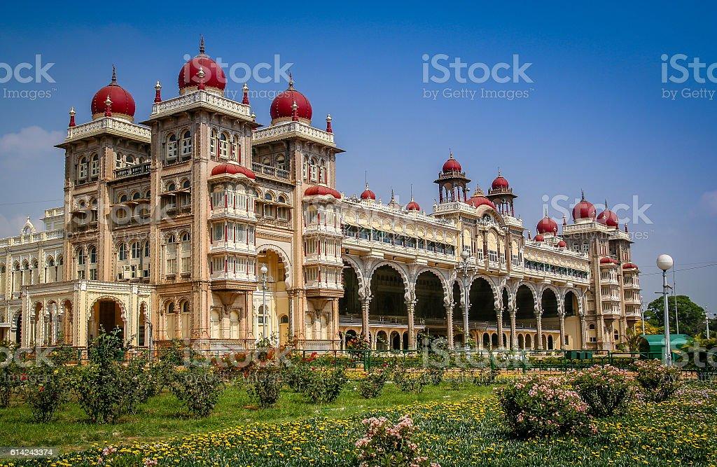Maharajahs Palace in Mysore stock photo
