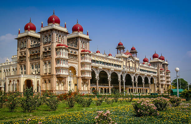 Maharajahs Palace in Mysore The beautiful Maharajahs Palace in Mysore, Karnataka, India bangalore stock pictures, royalty-free photos & images