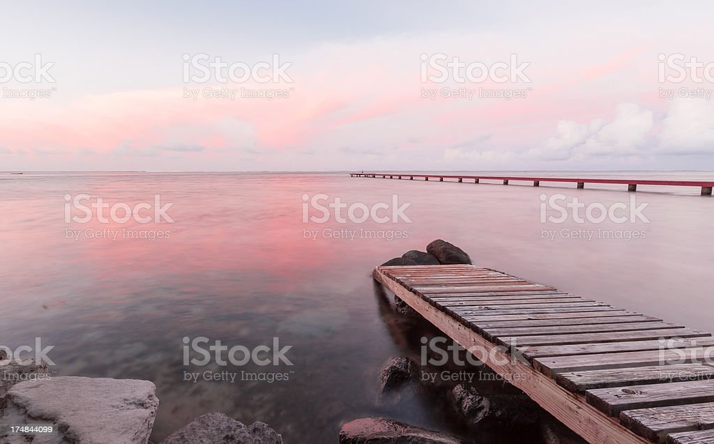 Maharepa Sunset royalty-free stock photo