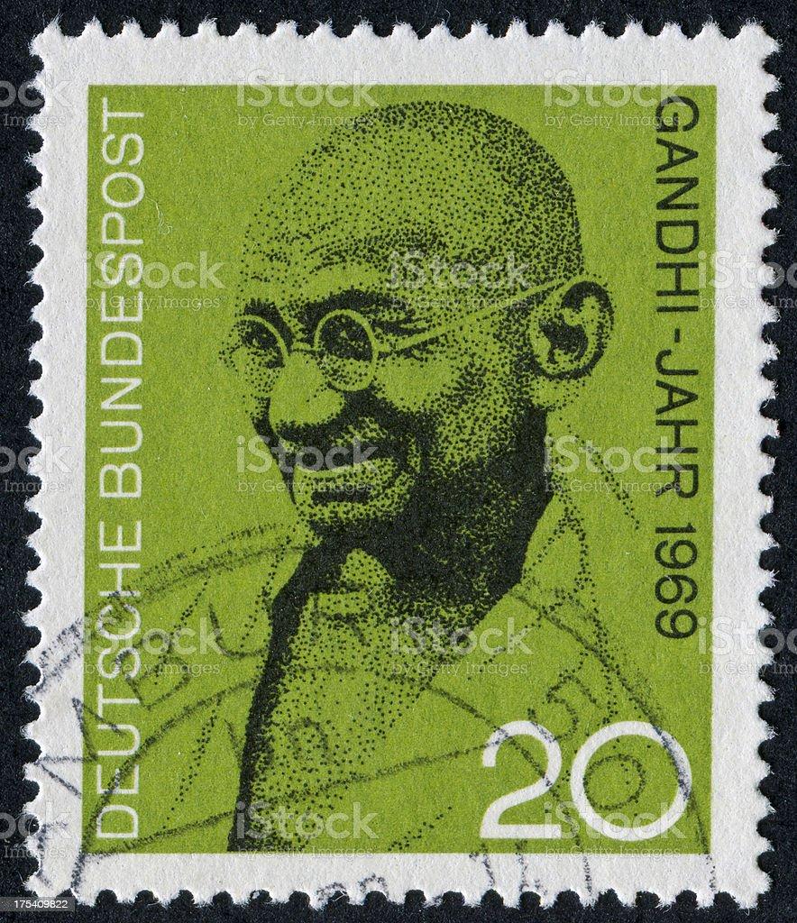 Mahatma Gandhi Stamp royalty-free stock photo