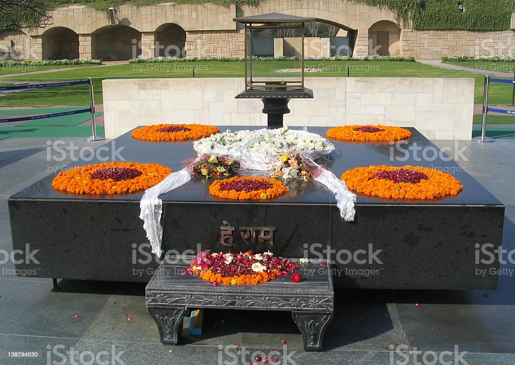 Mahatma Ghandi's final resting place royalty-free stock photo