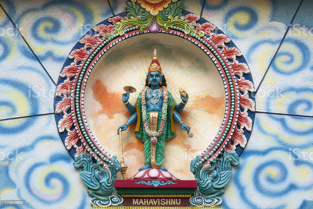Mahavishnu sculpture stock photo