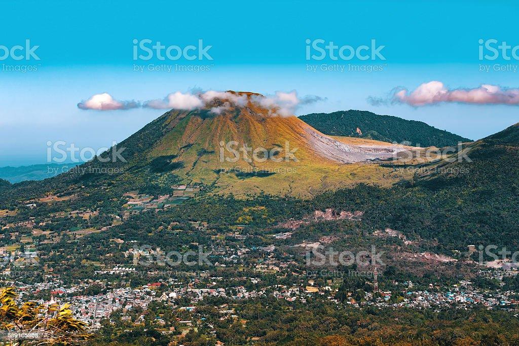 Mahawu volcano, Sulawesi, Indonesia stock photo