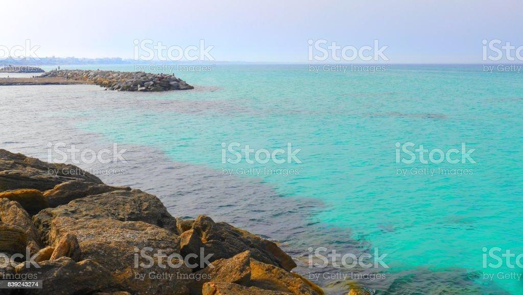 Mahdia Rocky Beach stock photo