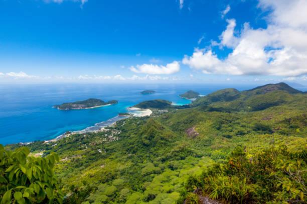 마헤 해안선 풍경, 세이셸 - 마헤 섬 뉴스 사진 이미지