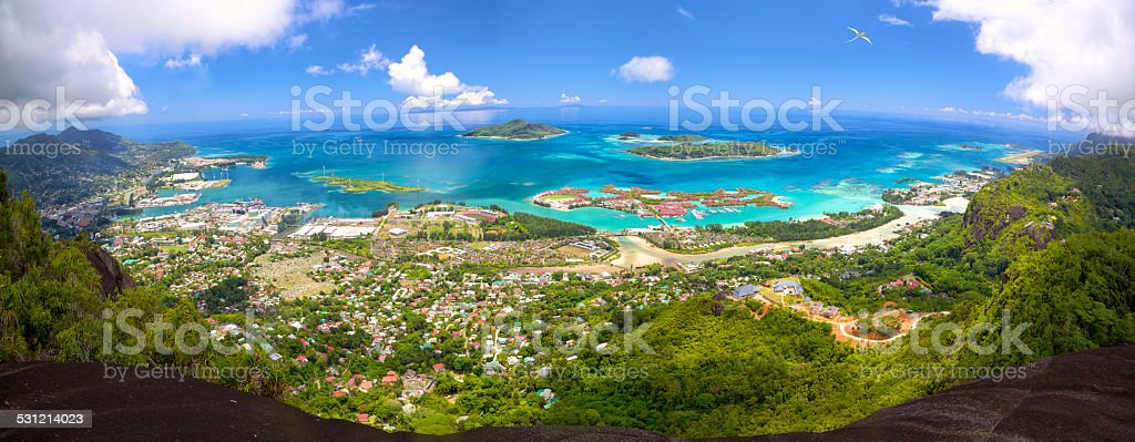 Mahe Island panorama stock photo