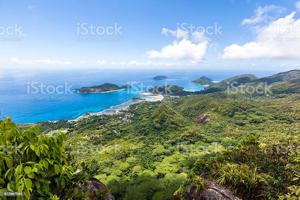 mahe island view stock photo